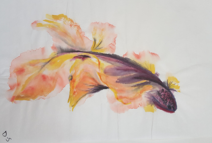 GOLDEN FISH, 21 X 29.7cm