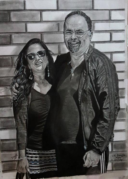 Couple portrait, 42 X 59.4cm