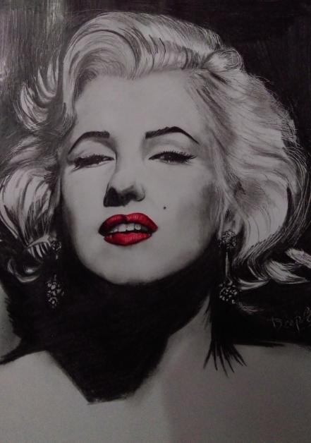 Marilyn Monroe, 20 X 30cm, GRAPHITE ON PAPER