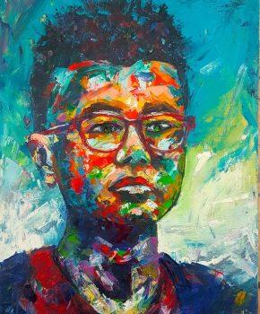 Head 2, 40 X 50 CM, Acrylic On Canvas
